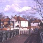 Homefield housing estate from Phipps Bridge, Mitcham, Surrey CR4. Site of Grove field.