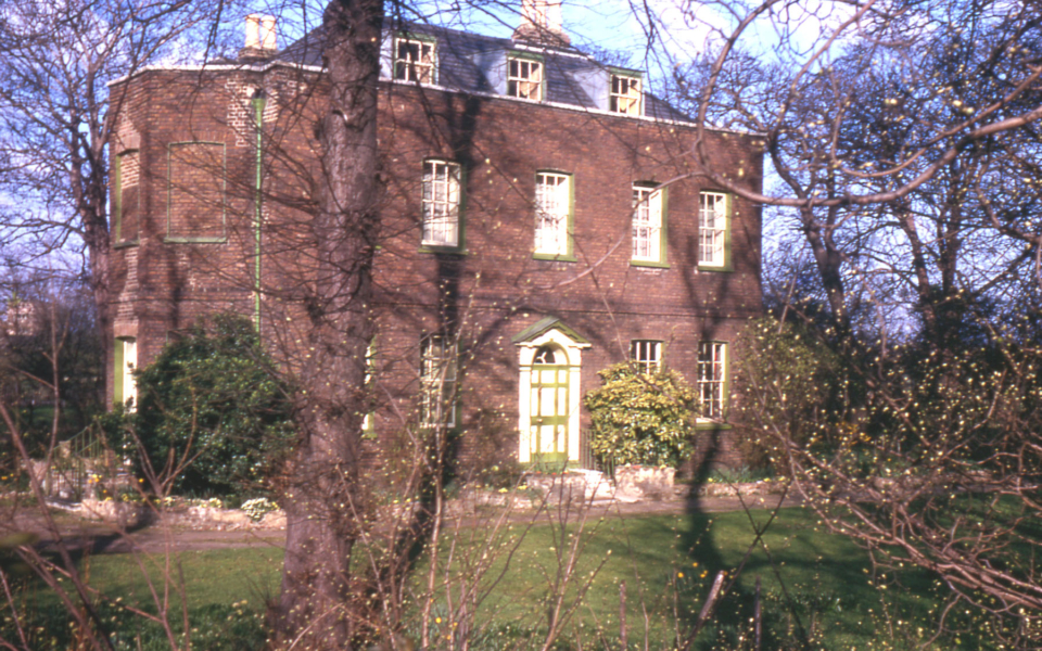 Wandle Villa, 98 Phipps Bridge Road, Mitcham, Surrey CR4. Built 1788. Bequethed to the National Trust in 1941.