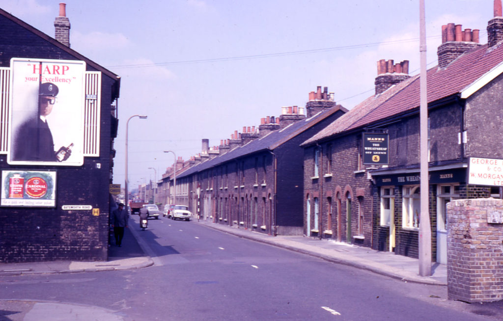 Keen's Terrace : 100-104 Church Road, Mitcham, Surrey CR4. Built 1865.