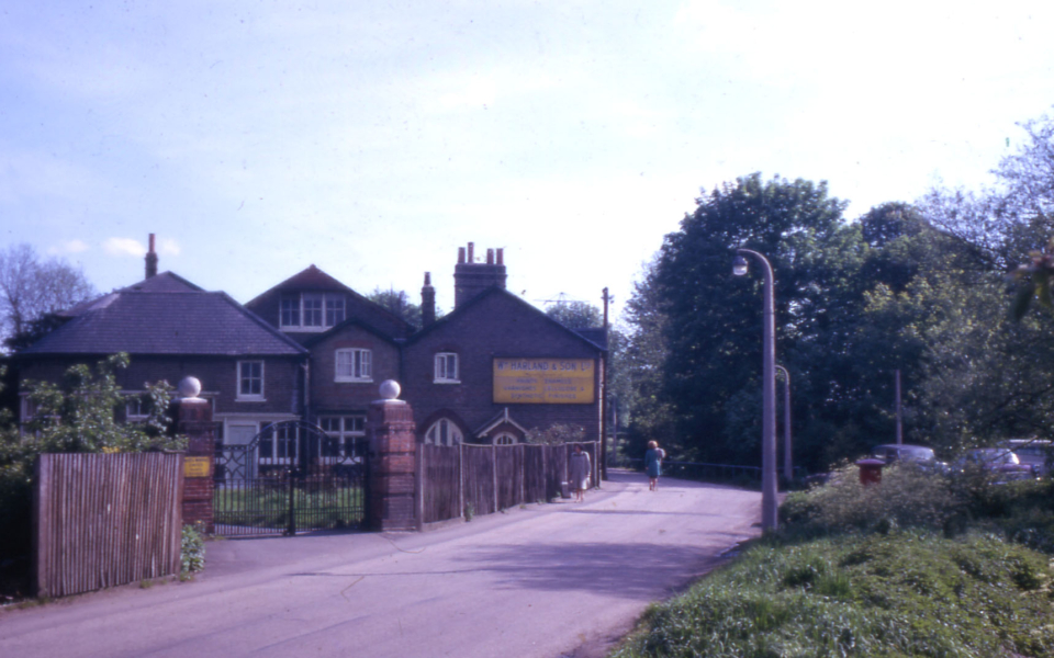 William Harland & Son's Works, 115 Phipps Bridge Road, Mitcham, Surrey CR4. The Works closed in the 1960s.