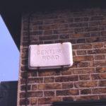 Original street name tablet in Century Road, Mitcham, Surrey CR4.