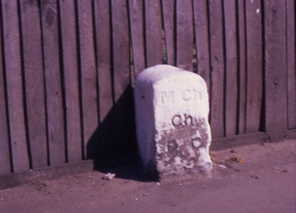Boundary Stone of Mitcham Parish ?, Phipps Bridge Road, Mitcham, Surrey CR4.