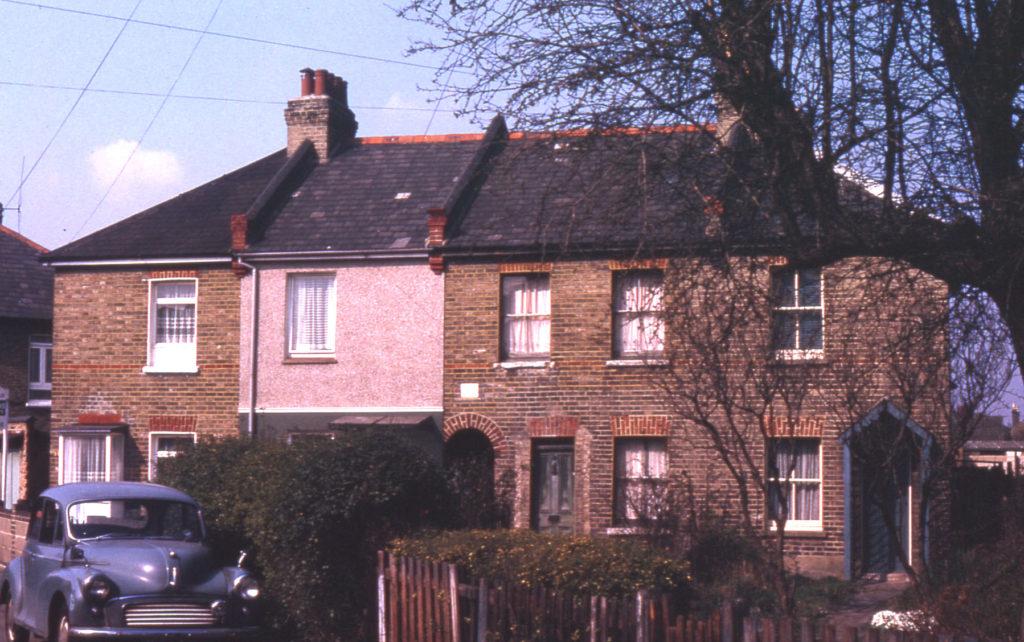 Cottages in Belgrave Walk, Mitcham, Surrey CR4. 1900