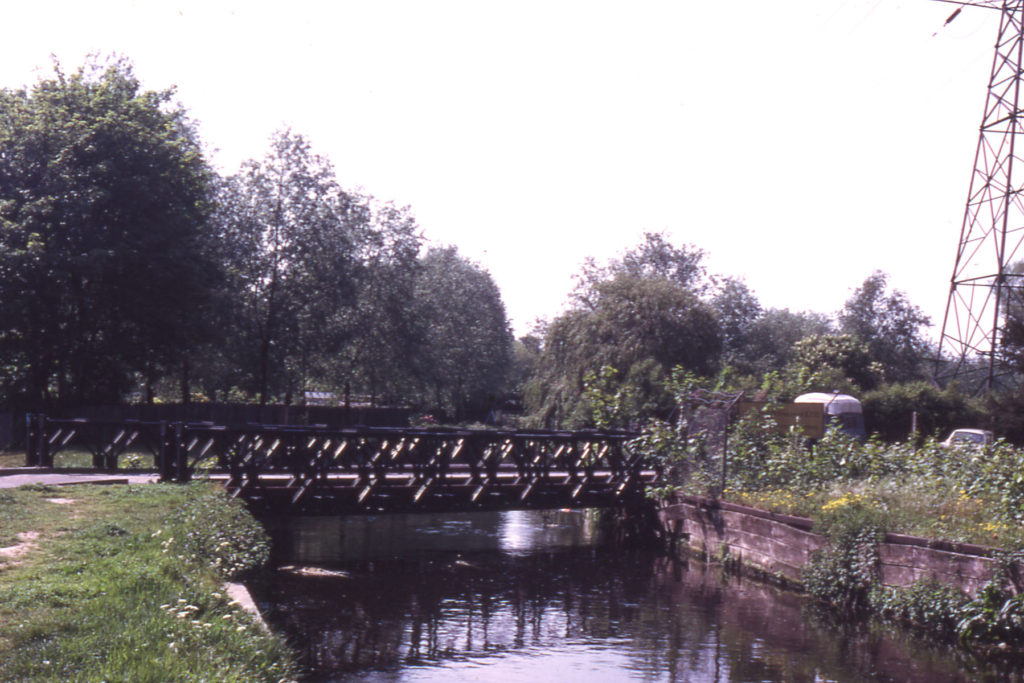 Phipps Bridge across the Wandle, London SW19.