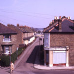 Acacia Road, looking towards Eastfields, Mitcham, Surrey CR4. From footbridge over railway.