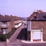 Acacia Road, looking towards Eastfields, Mitcham, Surrey CR4. From footbridge over railway.