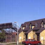 Footbridge to Sandy Lane from Eastfields, Mitcham, Surrey CR4.