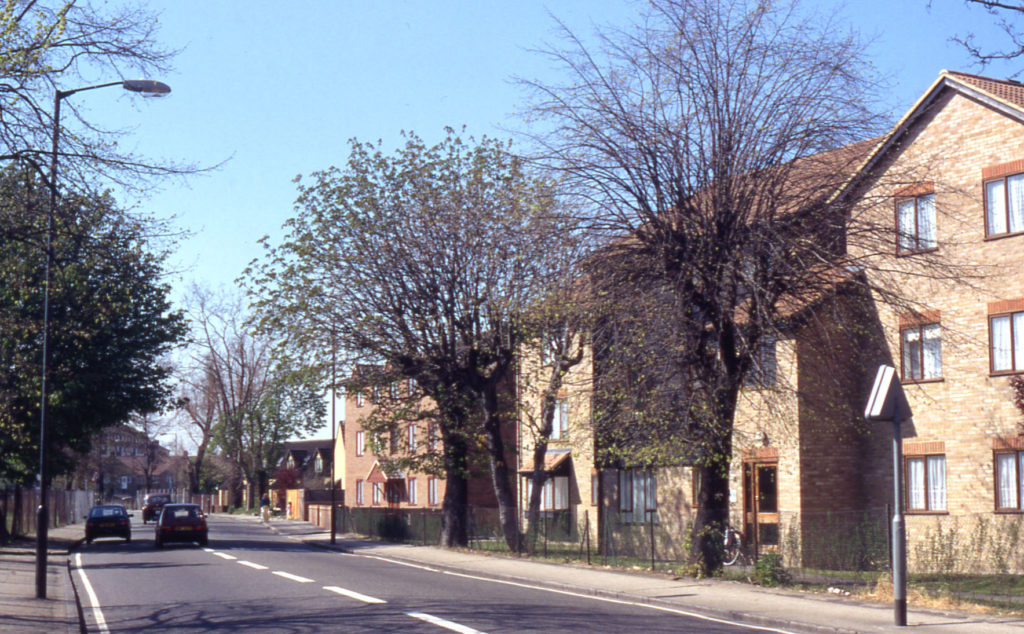 Grove Road., Mitcham, Surrey CR4. New housing on site of Mizen