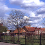Grounds of Lonesome School, Mitcham, Surrey CR4. Formerly the 1st & 2nd Shore Meadows. The school opened in 1903.
