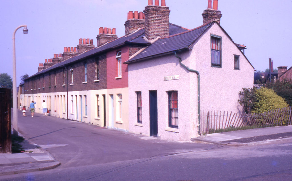 Ebenezer Terrace, Ebenezer Walk, London SW16. Built about 1870. Redeveloped in 1970s.
