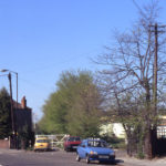 Old lane to Streatham Road, off Grove Road, London SW16.