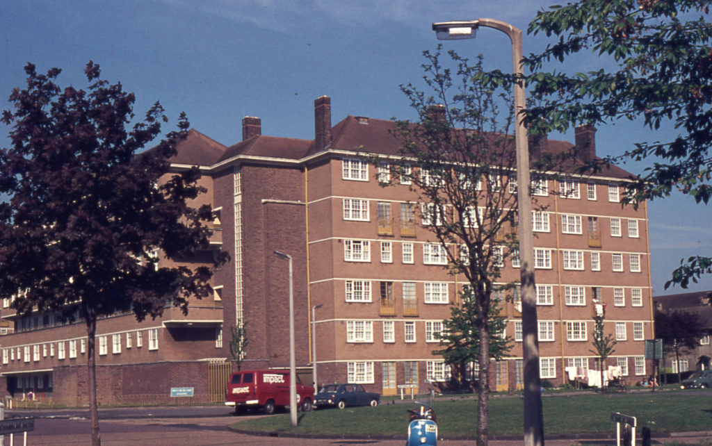 Westmorland Square, Pollards Hill estate, Mitcham, Surrey CR4. Built c. 1950 ?.