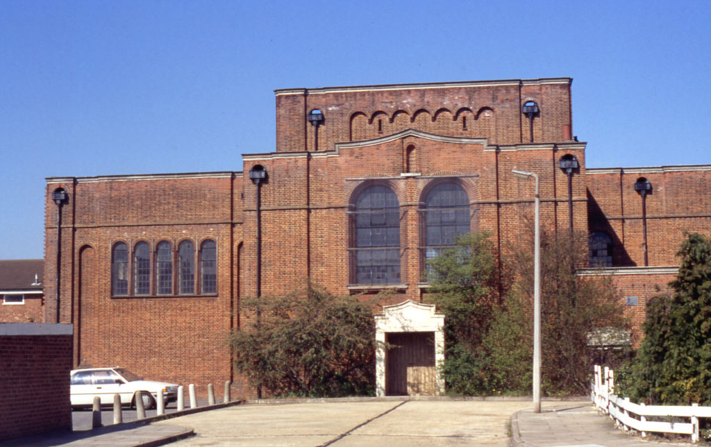 St. Olaves Church, From Middle Road, London SW16. Consecrated 17 January 1931. Architect Arthur C. Martin.