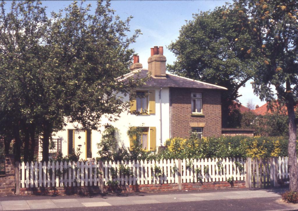 Cottages in Manor Road, Mitcham, Surrey CR5.