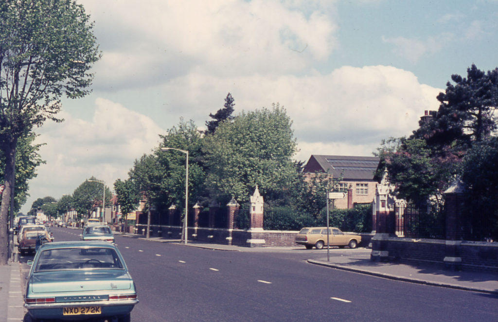Site of Arthur's stillery, Mitcham Road, Croydon. James Arthur lived at New Barns Farm.