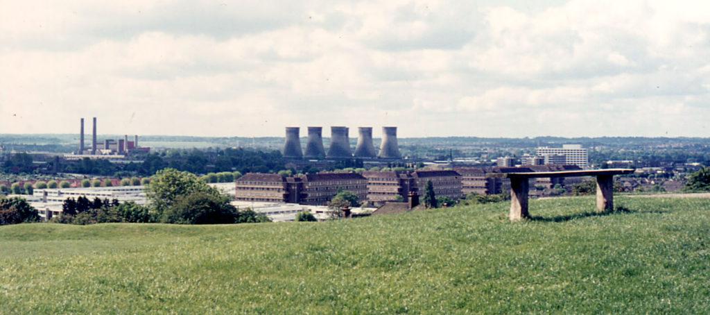 View towards Croydon from Pollards Hill, London SW16.