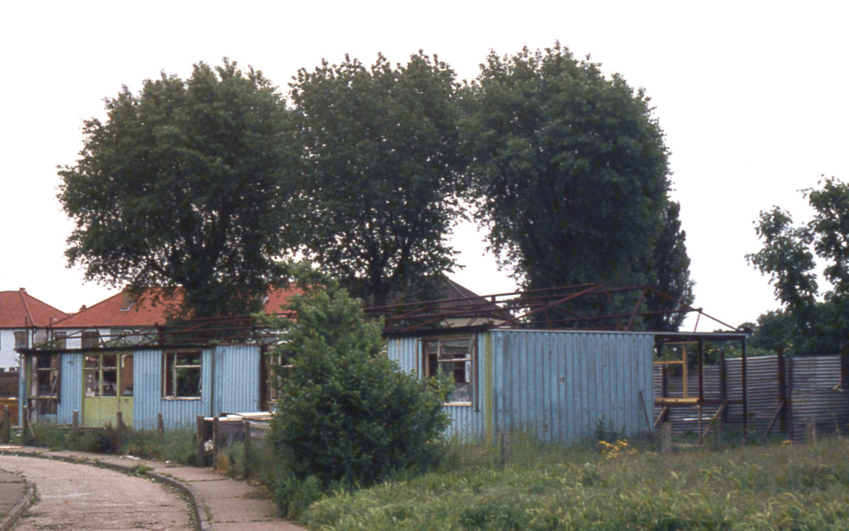 The last of the Arcon prefabs Middlesex Road, Pollards Hill, London SW16. Erected in 1946. Demolished 1970s.