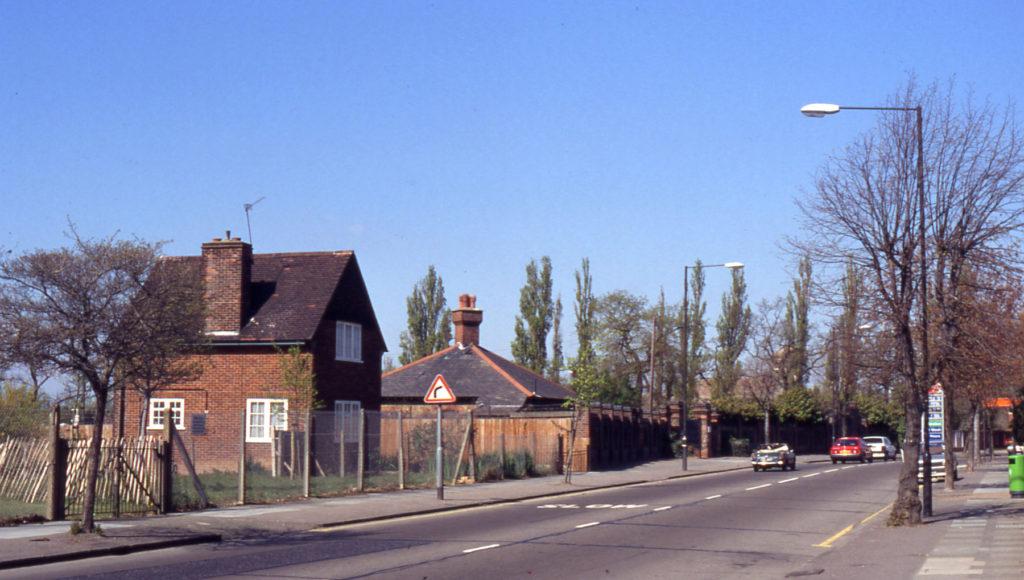 Jewish cemetery Rowan Road, London SW16. The site of Mitcham Little Wood.