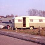 Travellers' caravans Recreation Close, Mitcham, Surrey CR4.