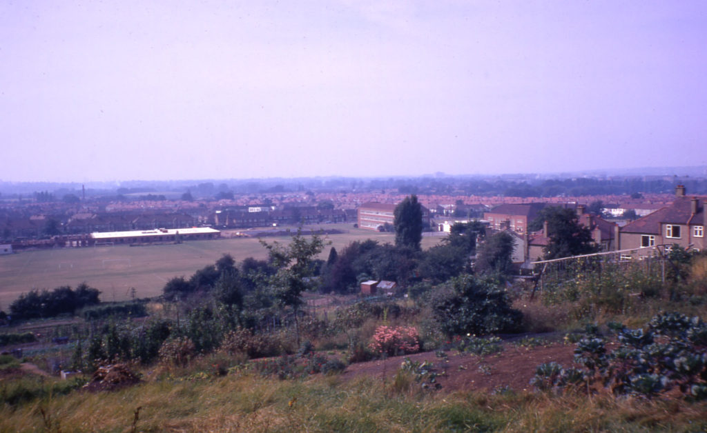 View across Mitcham Common from Pollards Hill, London SW16.