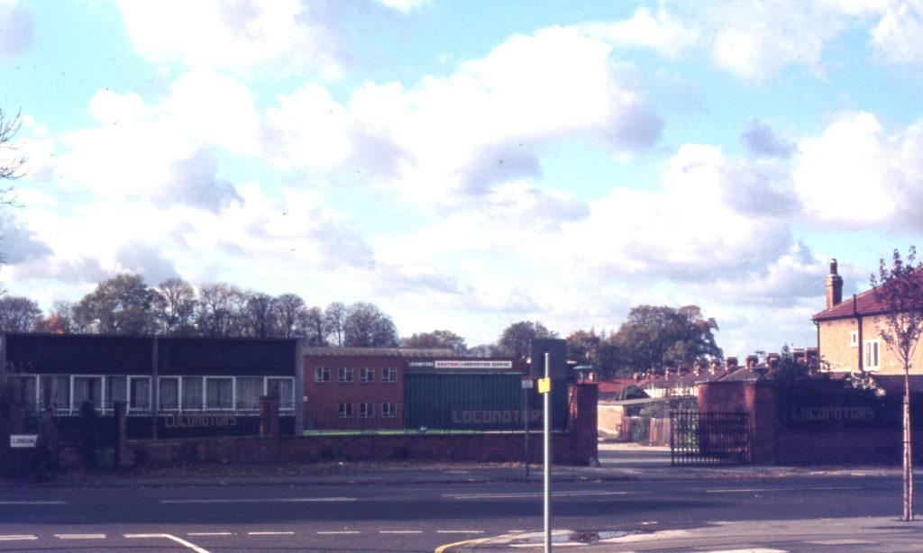 Entrance to Locomotors, London Road, Mitcham, Surrey CR4.