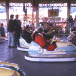 Mitcham Fair, Three Kings Piece, Mitcham, Surrey CR4. The Dodgems during the opening of the Fair.