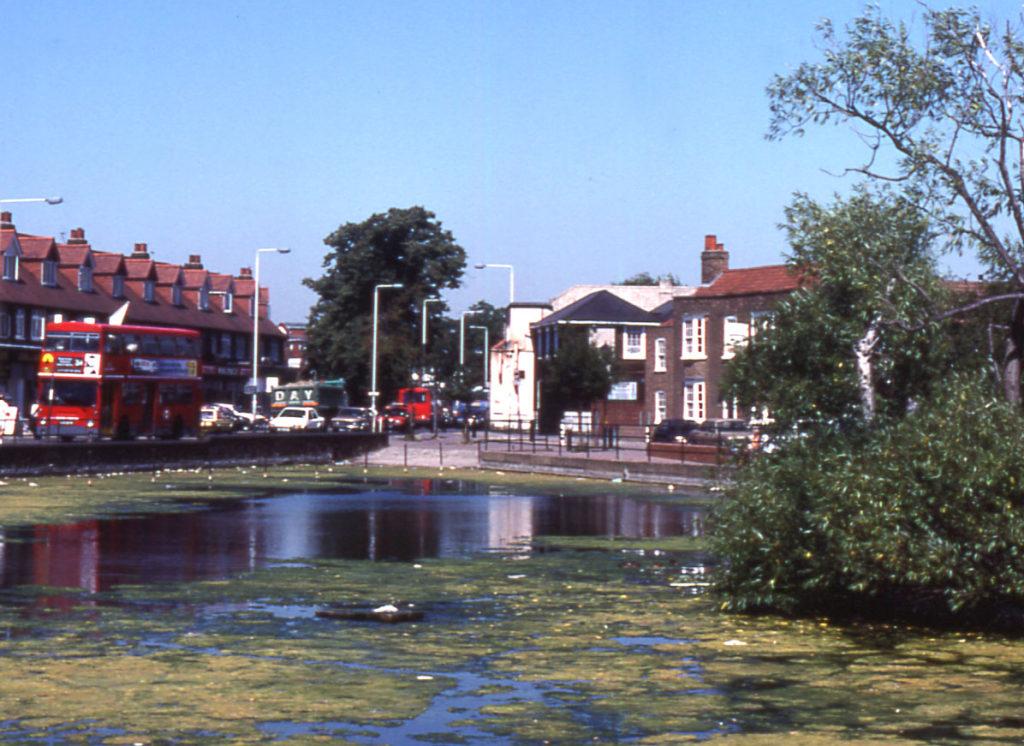 Three Kings Pond, Mitcham, Surrey CR4. Looking north towards Upper (Fair) Green.