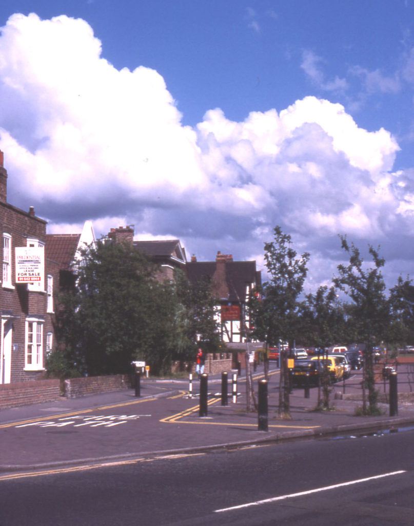 Commonside East, Mitcham, Surrey CR4. Looking east from Upper Green West.