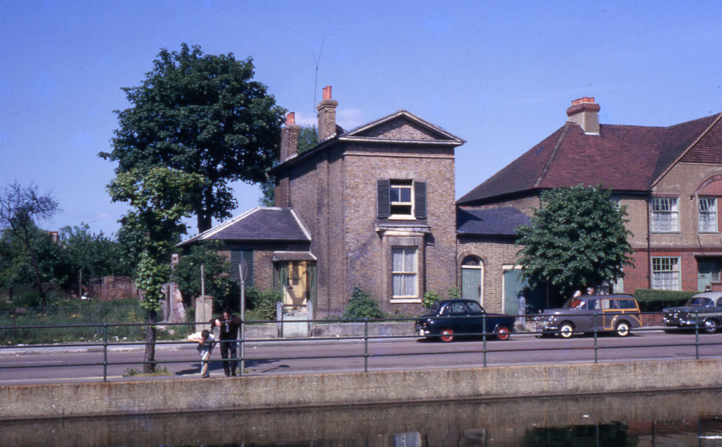 17 Commonside East, Mitcham, Surrey CR4. Three Kings pond in foreground.