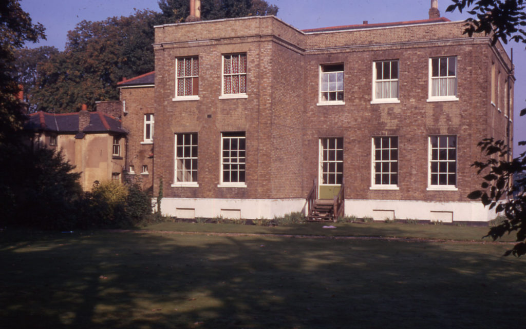 Park Place, Commonside West, Mitcham, Surrey CR4. Southern elevation (1780).