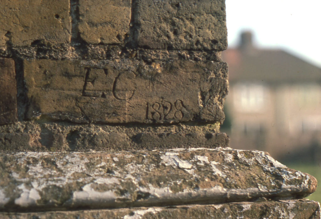 Park Place, Commonside West, Mitcham, Surrey CR4. Dated brick : E. C 1828.