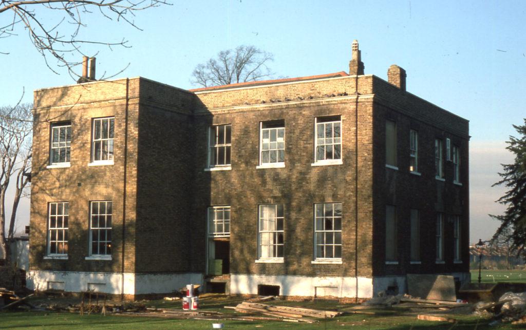 Park Place, Commonside West, Mitcham, Surrey CR4. Rear. during renovation.