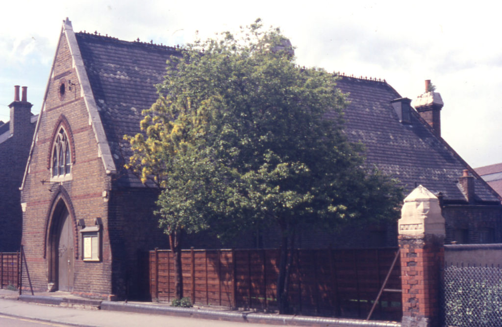 St. Marks Church Hall, St. Marks Road, Mitcham, Surrey CR4. Opened May 1865. Demoilshed early 1980s.