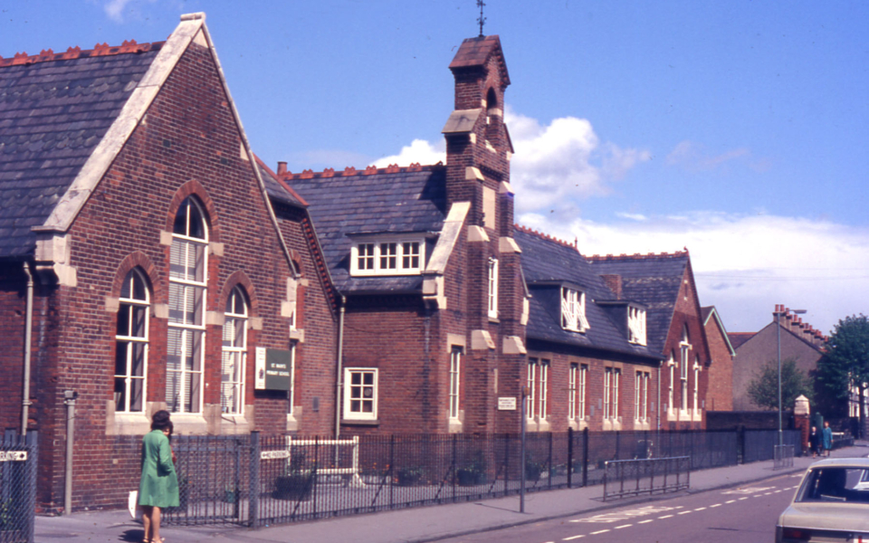 St. Marks Primary School, St. Marks Road, Mitcham, Surrey CR4. Built 1884.