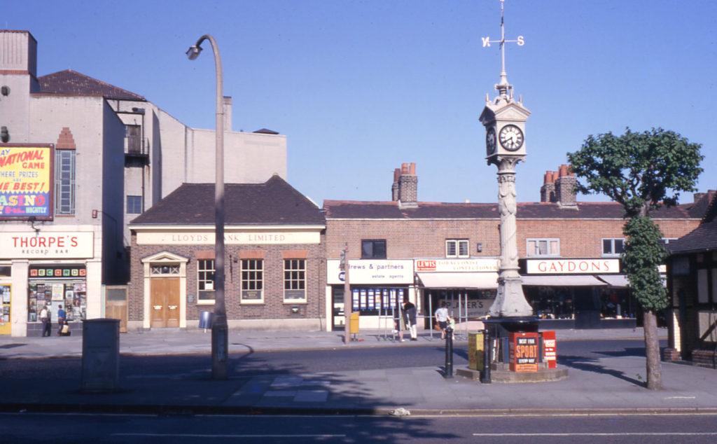 Jubilee Clock, Upper Green, Mitcham, Surrey CR4. Erected in 1898 to celebrate Victoria