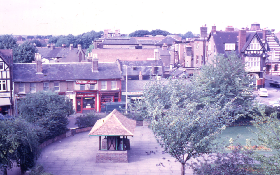 Fair Green, Mitcham, Surrey CR4. from roof of Durham House.