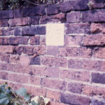 Durham House - wall, Fair Green, Mitcham, Surrey CR4. Stone with initials GS (George Stainforth – c. 1769).