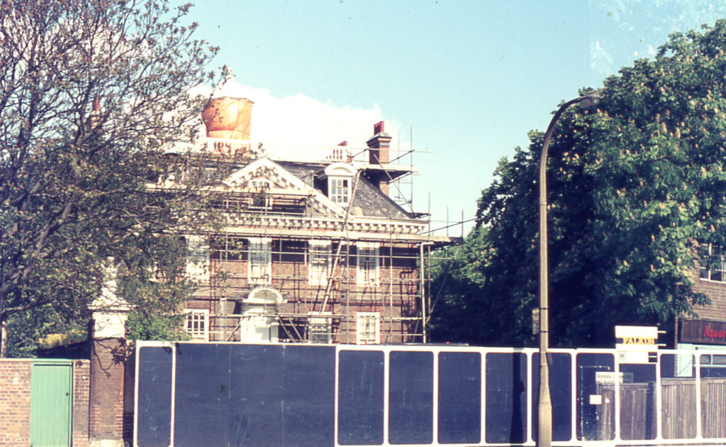 Eagle House being renovated, London Road, Mitcham, Surrey, CR4.