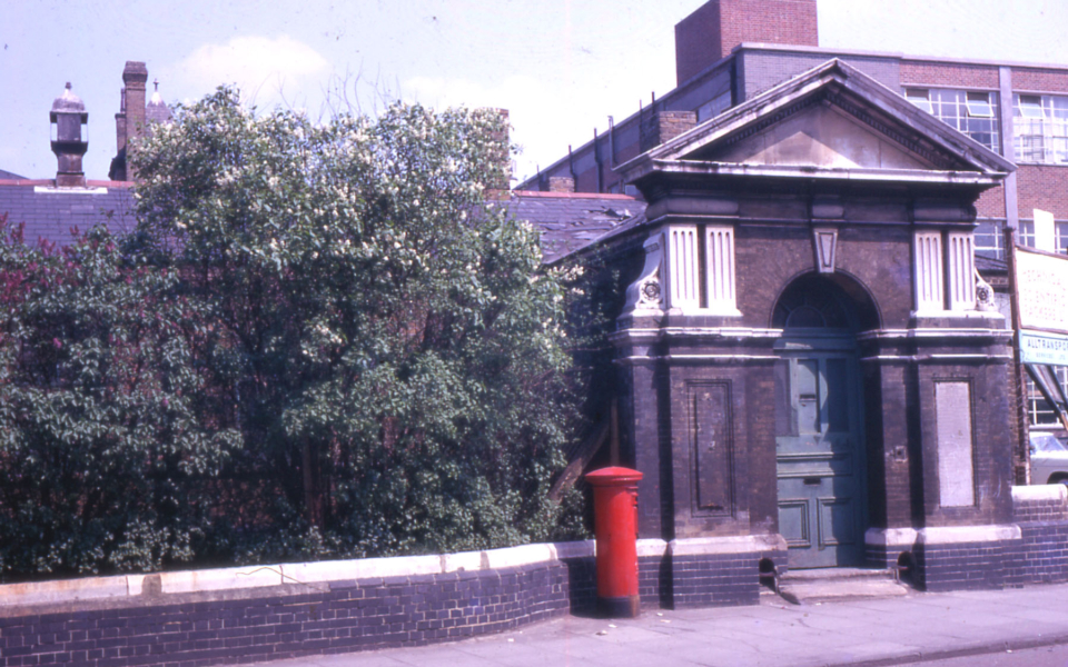 Entrance to Military Hospital Western Road ?, Mitcham, Surrey, CR4. Part of Holborn Estate.
