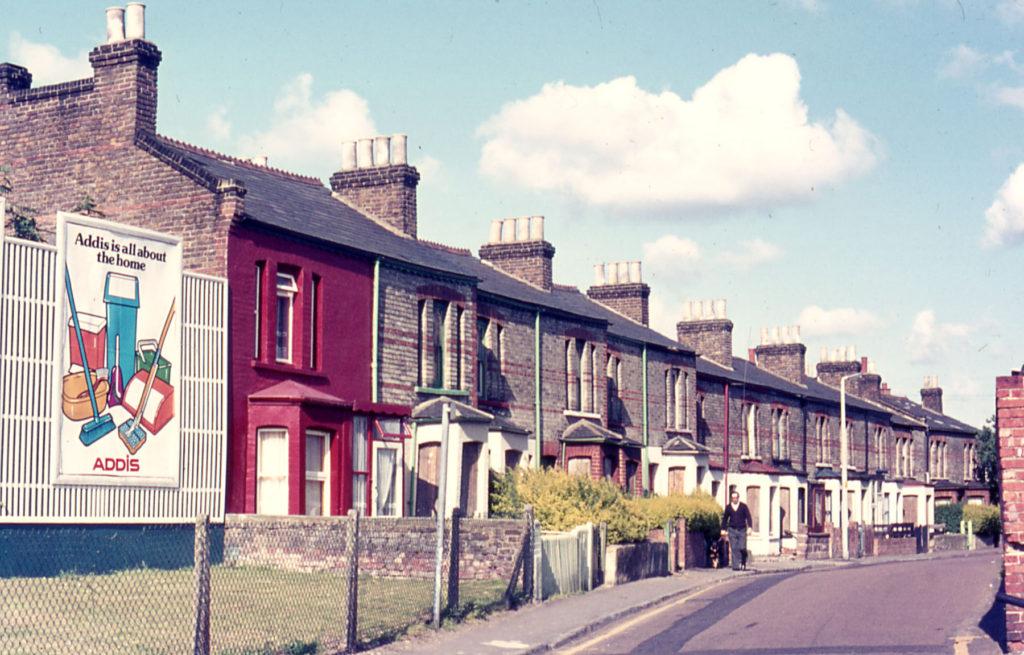 Victorian houses in Bond Road, Mitcham, Surrey, CR4.
