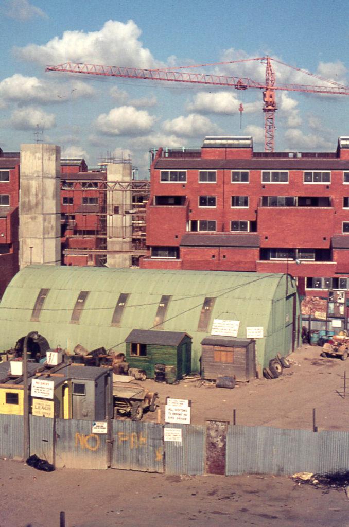 Mitcham Quadrant Site, Mitcham, Surrey, CR4. From rear of London Road shops.
