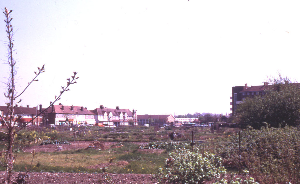 Allotments at Eastfields Road, Mitcham, Surrey, CR4. Last fragment of the open East Field.