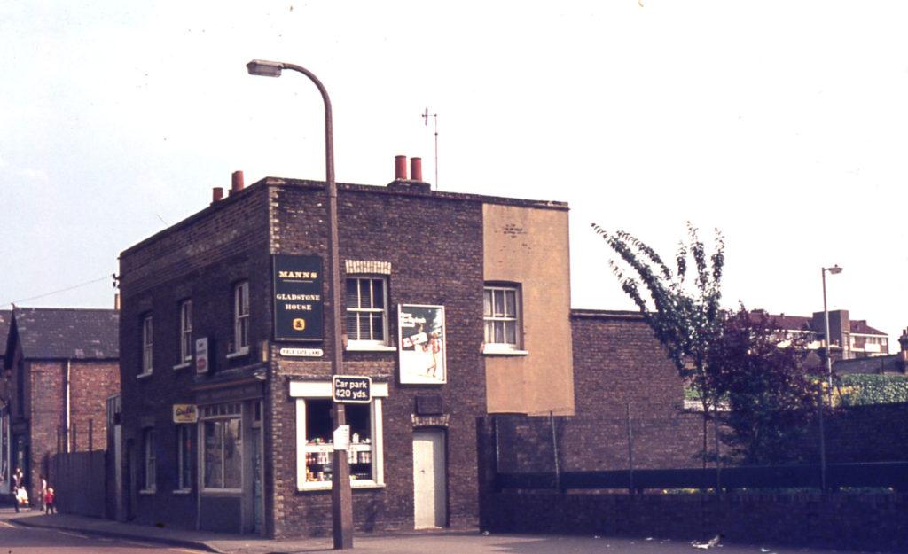 Gladstone House (Manns off-licence), Western Road/Fieldgate Lane, Mitcham, Surrey, CR4.