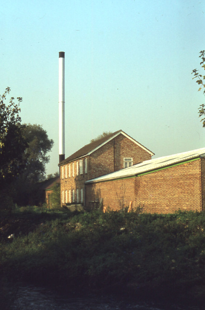 Back of Deeds Mill from the wandle, Willow Lane, Mitcham, Surrey CR4.