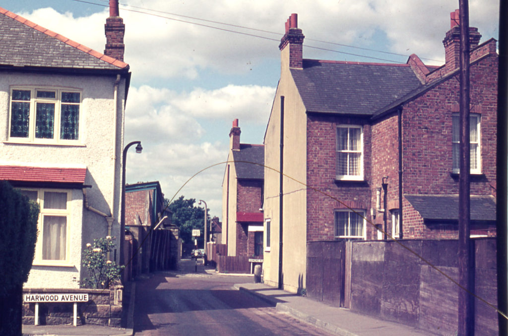 Love Lane - junction with Harwood Avenue, Mitcham, Surrey CR4.