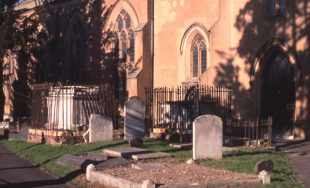 Listed tombs in Mitcham Parish Church, Mitcham, Surrey CR4.
