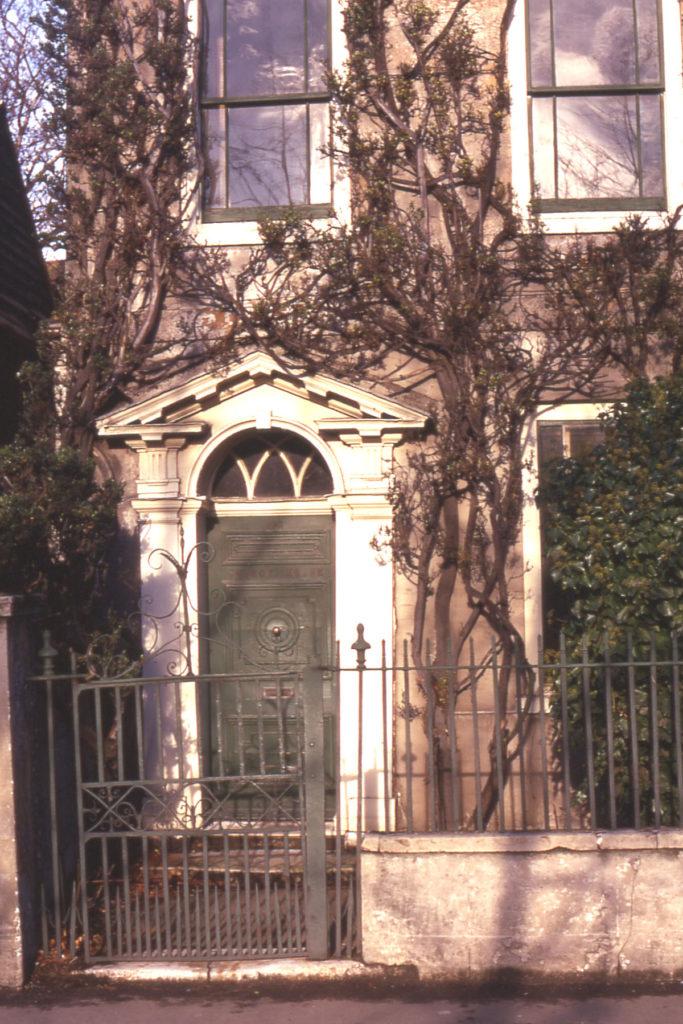 Church House, 64 Church Road, Mitcham, Surrey CR4. Georgian doorcase.