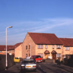 Morland Close, Mitcham, Surrey CR4. 1980s housing. Site of Highways depot.