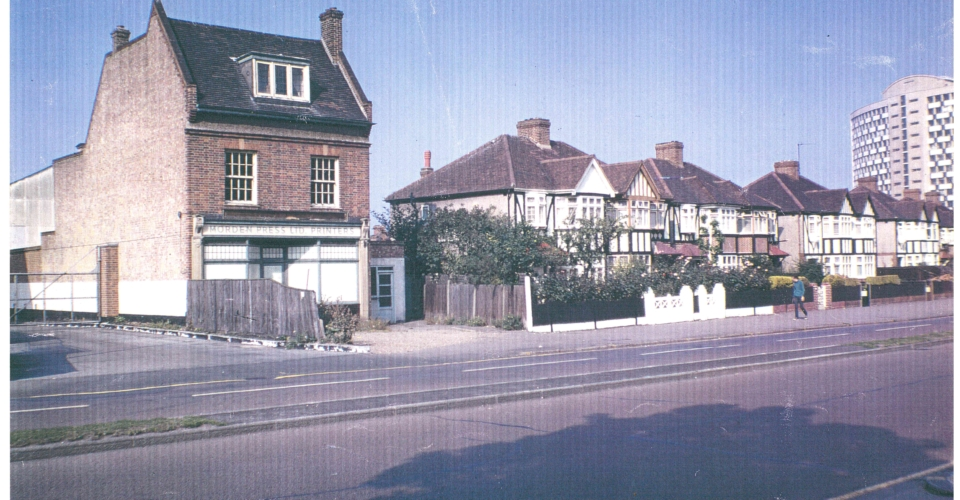 Morden Press, a property that still stands in London Road opposite Morden Court Parade. At one time vehicles belonging to the Express Dairy, across the road, were kept at the rear.
