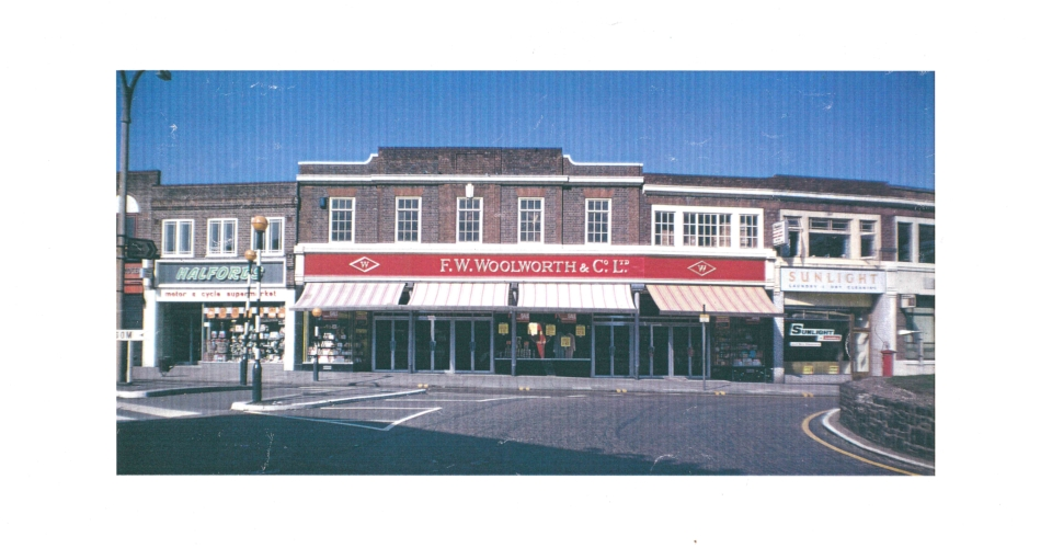 Woolworths and adjoining shops, London Road, Morden (WJR) undated